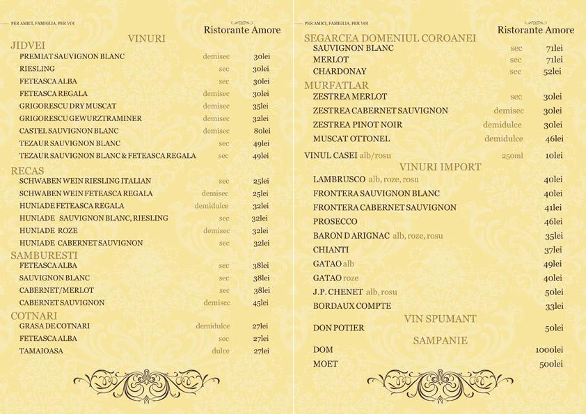 lista vinuri